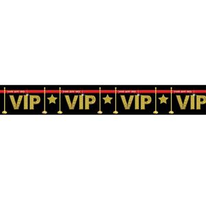 Fita VIP em Plástico, 8 x 610 Cm