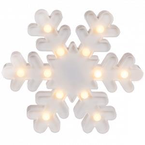 Floco de Neve Branco Decorativo com Luz, 25 cm