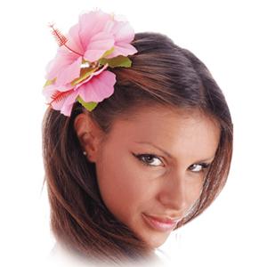 Flor Havaiana Rosa Fluorescente