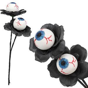 Flor Preta com Olhos, 26 cm