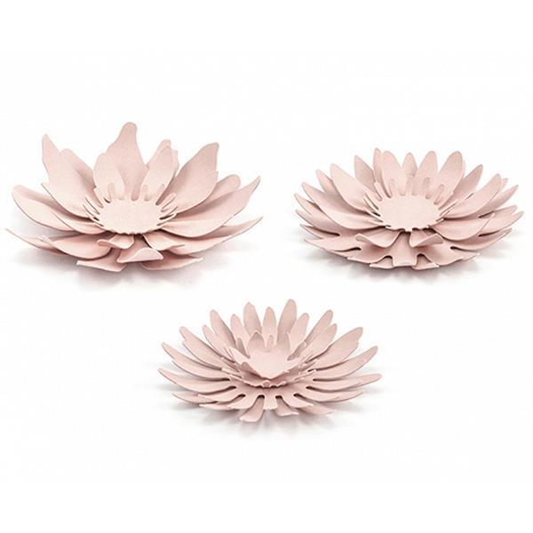Flores Decorativas Rosa, 3 unid.