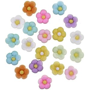Flores Pequenas em Biscuit, 20 unid.