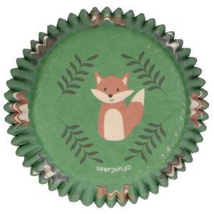 Formas Cupcake Animais do Bosque, 48 unid.