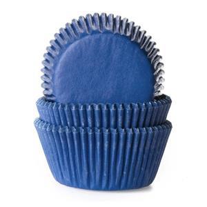 Formas Cupcake Azul Escuro, 50 unid.