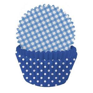 Formas Papel Cupcake Azul Mix, 75 unid.