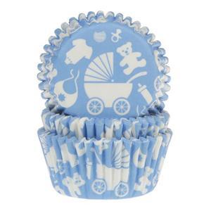 Formas Cupcake Baby Boy, 50 unid.