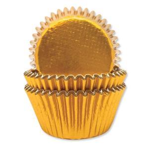 Formas Cupcake Dourado Metalizado, 45 unid.