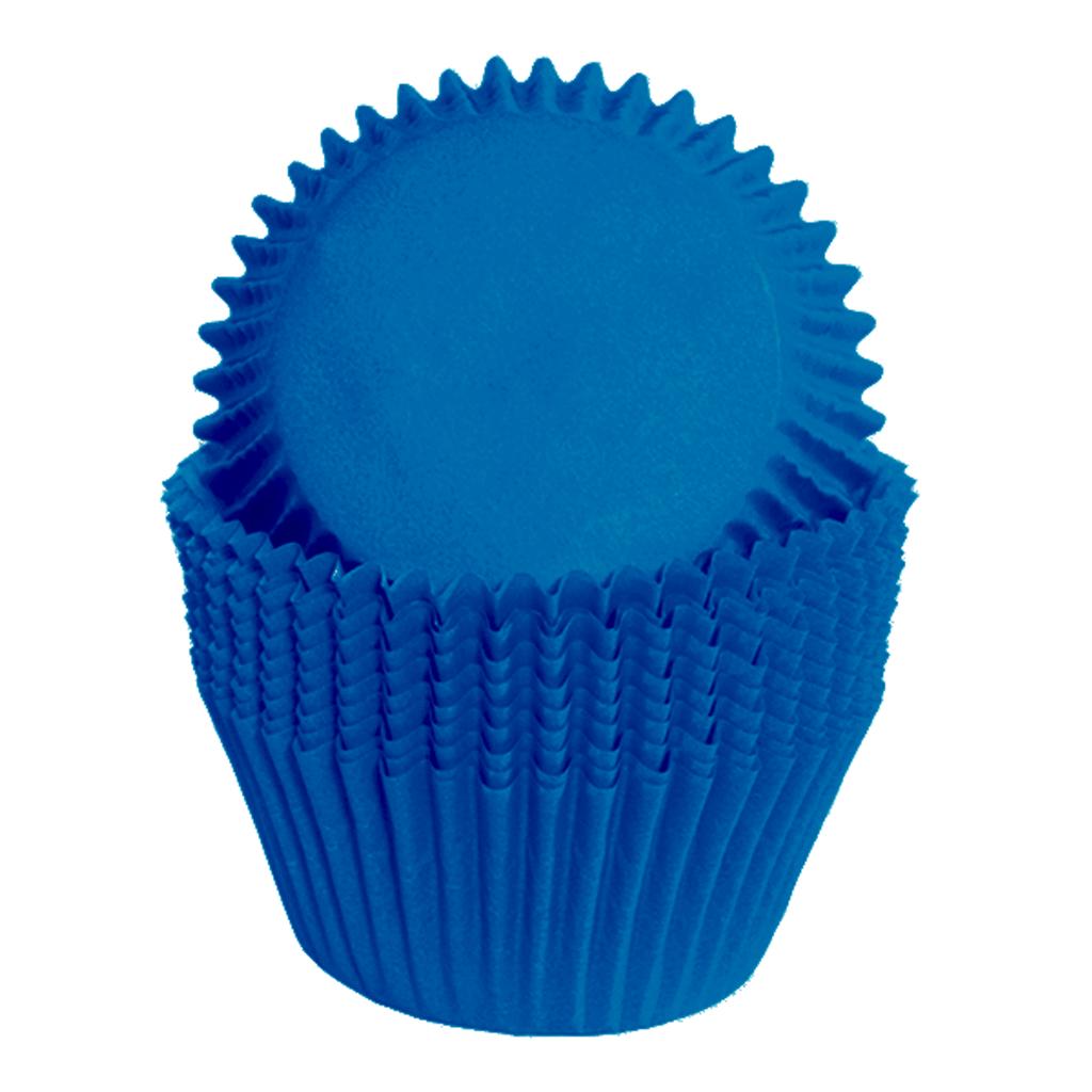 Formas Cupcake em Papel Azul, 75 unid.