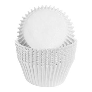 Formas Cupcake em Papel Brancas, 75 unid.