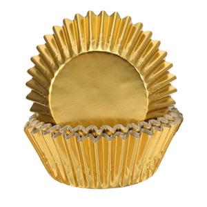 Formas Cupcake em Papel Dourado, 24 unid.