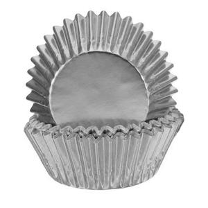 Formas Cupcake em Papel Prateado, 24 unid.