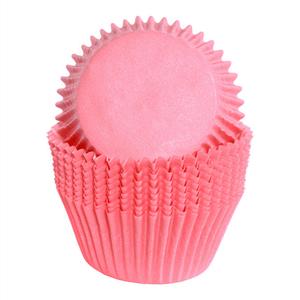 Formas Cupcake em Papel Rosa Claro, 75 unid.