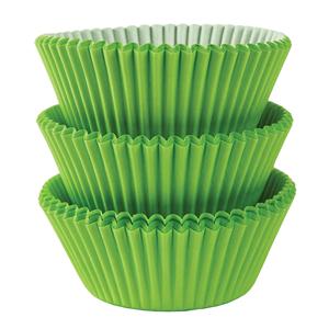 Formas Cupcake em Papel Verdes, 75 unid.