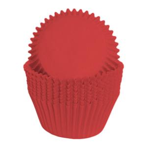 Formas Cupcake em Papel Vermelhas, 75 unid.