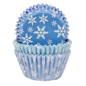 Formas Papel Cupcake Flocos de Neve, 75 unid.