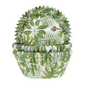 Formas Cupcake Folhas Tropicais, 50 unid.