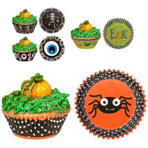 Formas Cupcake Halloween, 48 unid.