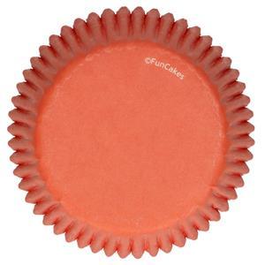 Formas Cupcake Laranja, 48 unid.