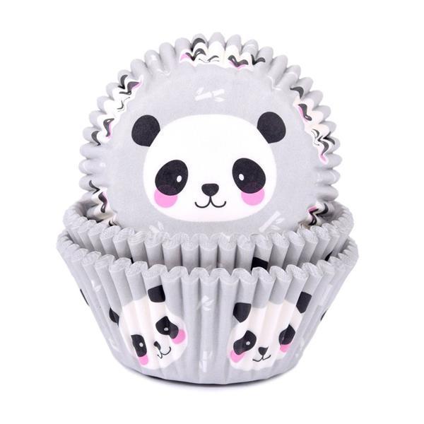 Formas Cupcake Panda Bebé, 50 unid.