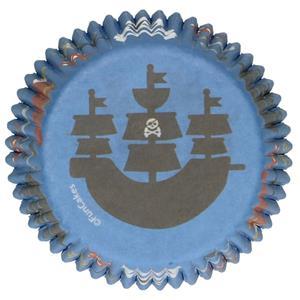 Formas Cupcake Piratas, 48 unid.