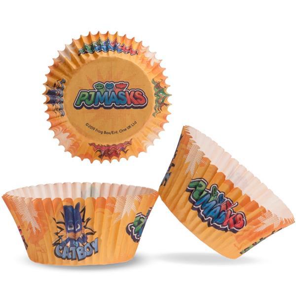 Formas Cupcake Pj Masks, 25 unid.