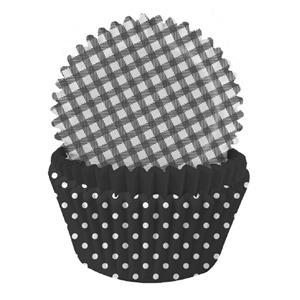 Formas Papel Cupcake Preto Mix, 75 unid.