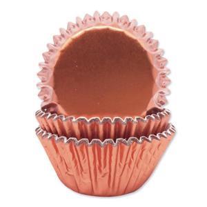 Formas Cupcake Rosa Gold Metalizado, 45 unid.