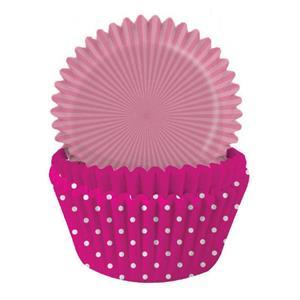Formas Papel Cupcake Rosa Mix, 75 unid.