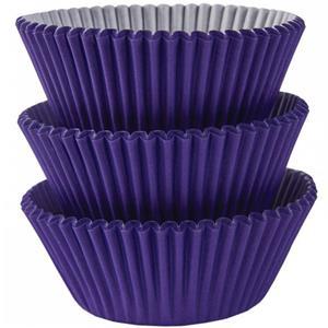 Formas Cupcake Roxo, 75 unid.