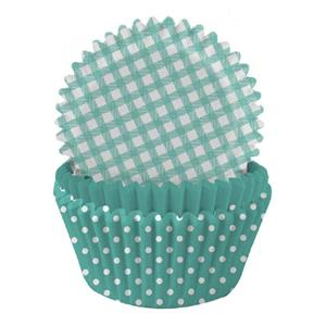 Formas Papel Cupcake Verde Menta Mix, 75 unid.