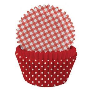 Formas Papel Cupcake Vermelho Mix, 75 unid.