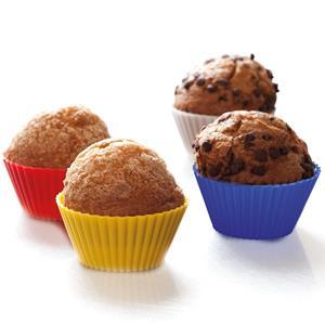 Formas Silicone Cupcakes Multicolor, 4 unid.