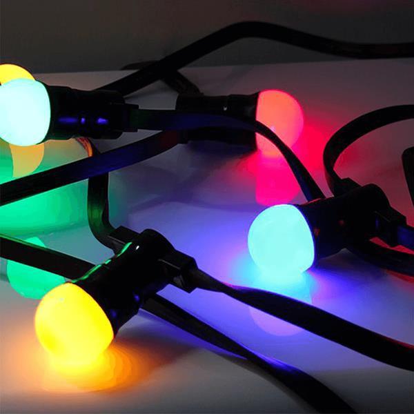 Gambiarra Grinalda com lâmpadas Led Multicolor, 20 mt