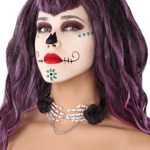 Gargantilha Mãos de Esqueleto, Halloween