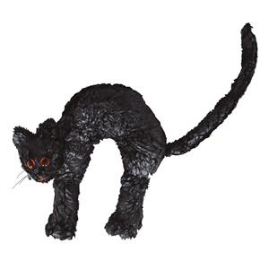 Gato Preto Decorativo, 23 x 22 Cm
