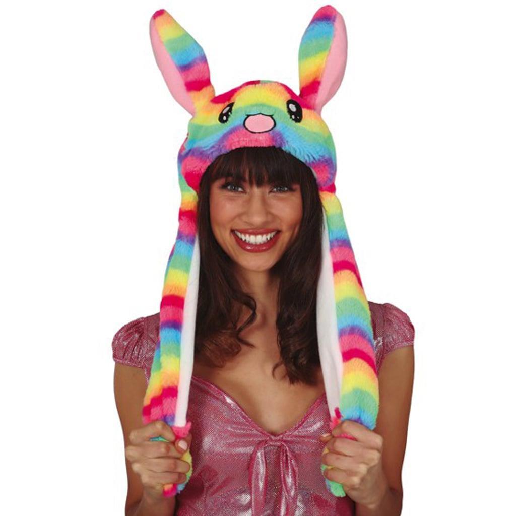 Gorro Coelha Multicolor com Movimento