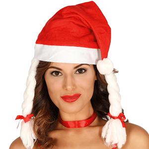 Gorro Mãe Natal com Tranças