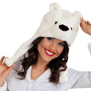 Gorro Urso Polar com Orelhas
