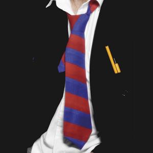 Gravata Azul e Vermelha