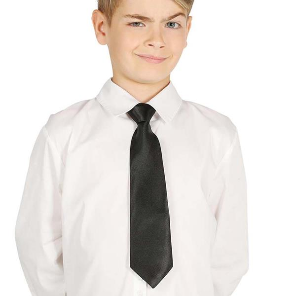 Gravata Preta Criança, 30 cm