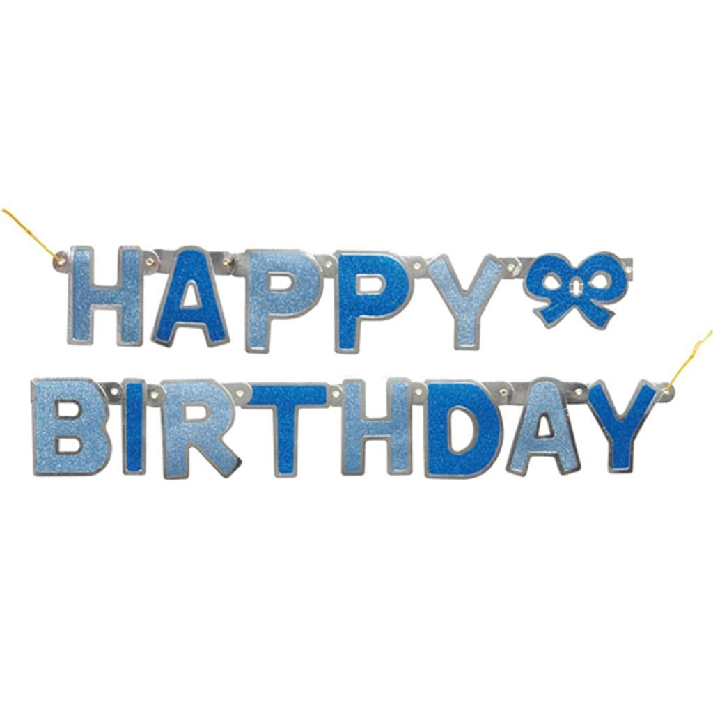 Grinalda Azul Happy Birthday