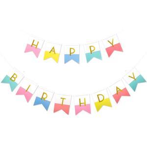 Grinalda Bandeiras Happy Birthday Multicolor, 500 cm
