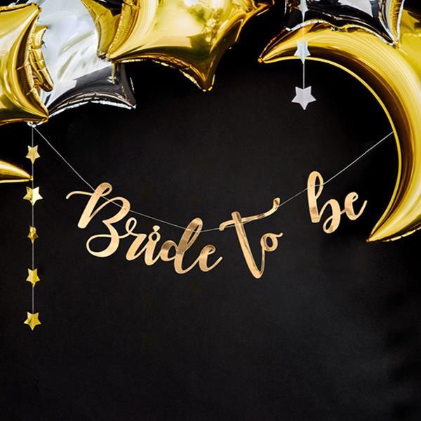 Grinalda Bride To Be Dourada, 80 cm