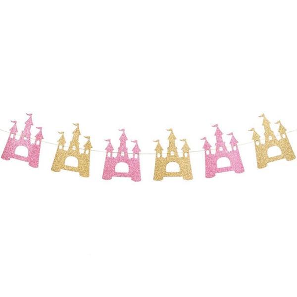 Grinalda Castelo Encantado com Glitter, 215 cm