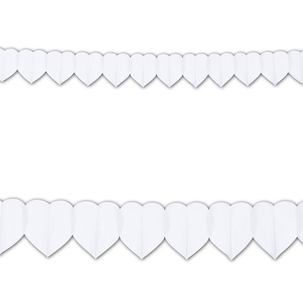 Grinalda Corações Brancos, 3 mt