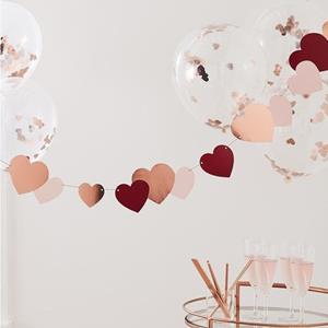 Grinalda Corações Rosa e Vermelho, 2 mt