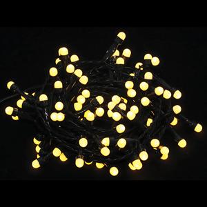 Grinalda de 100 Luzes de Natal Led Branco Quente, 5 mt
