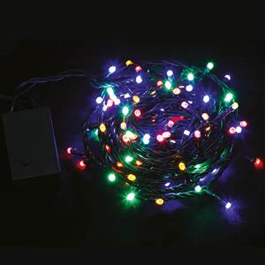 Grinalda de 100 Luzes de Natal Led Multicolor, 6,50 mt