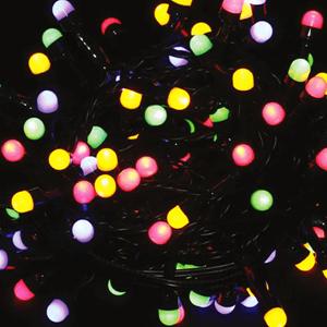 Grinalda de 100 Luzes de Natal Led Multicor, 5 mt