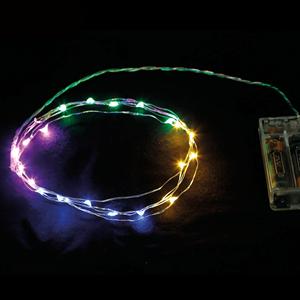 Grinalda de 20 luzes de Natal Led Multicolor, 2 mt